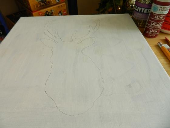 Glitter Reindeer Canvas 1 (3)