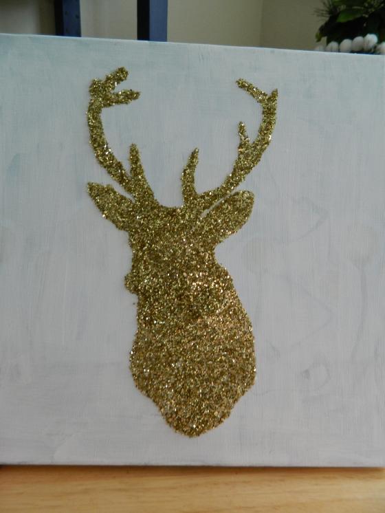 Glitter Reindeer Canvas 1 (5)